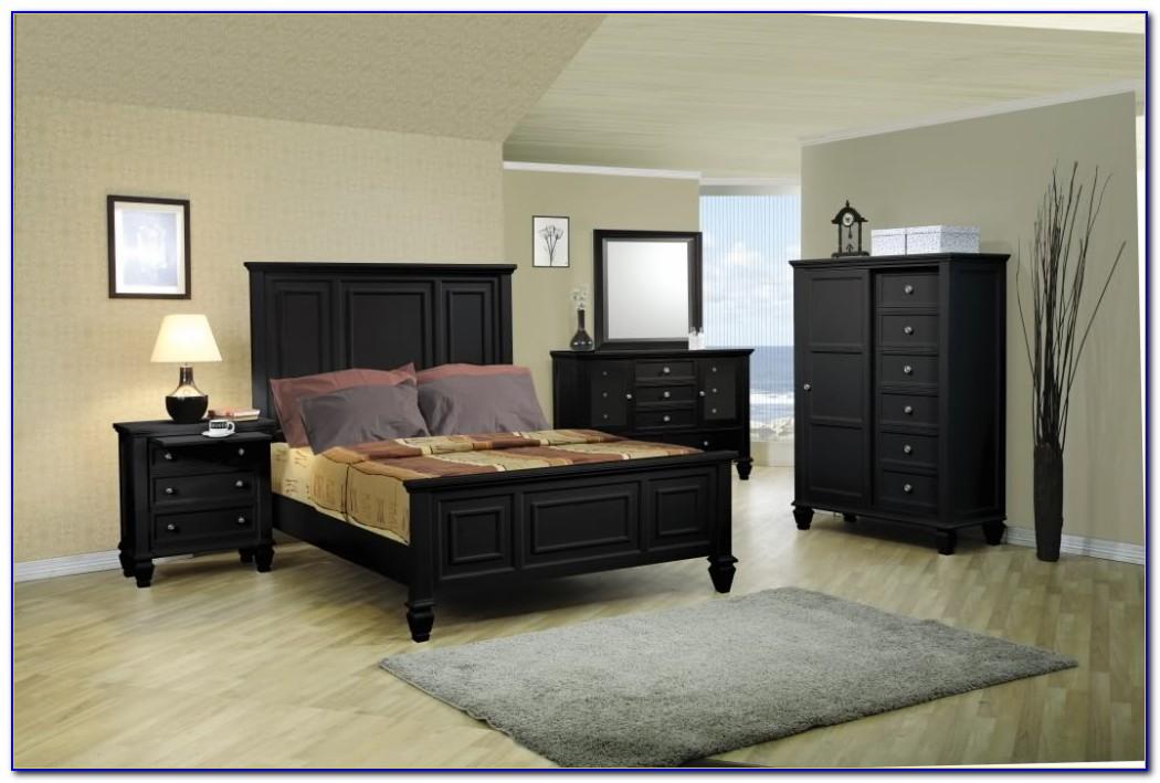 Sandy Beach Bedroom Set Black