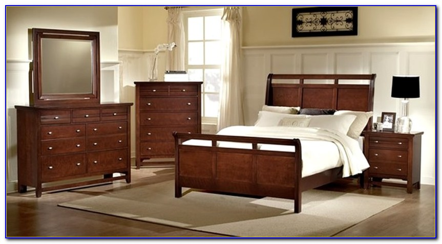 Solid Mahogany Bedroom Furniture Set