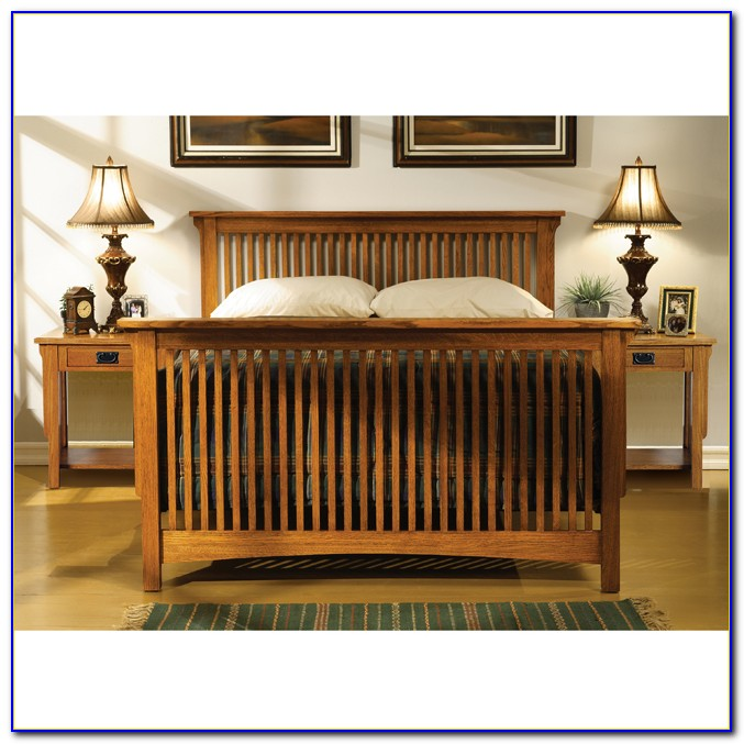 Solid Oak Mission Style Bedroom Furniture