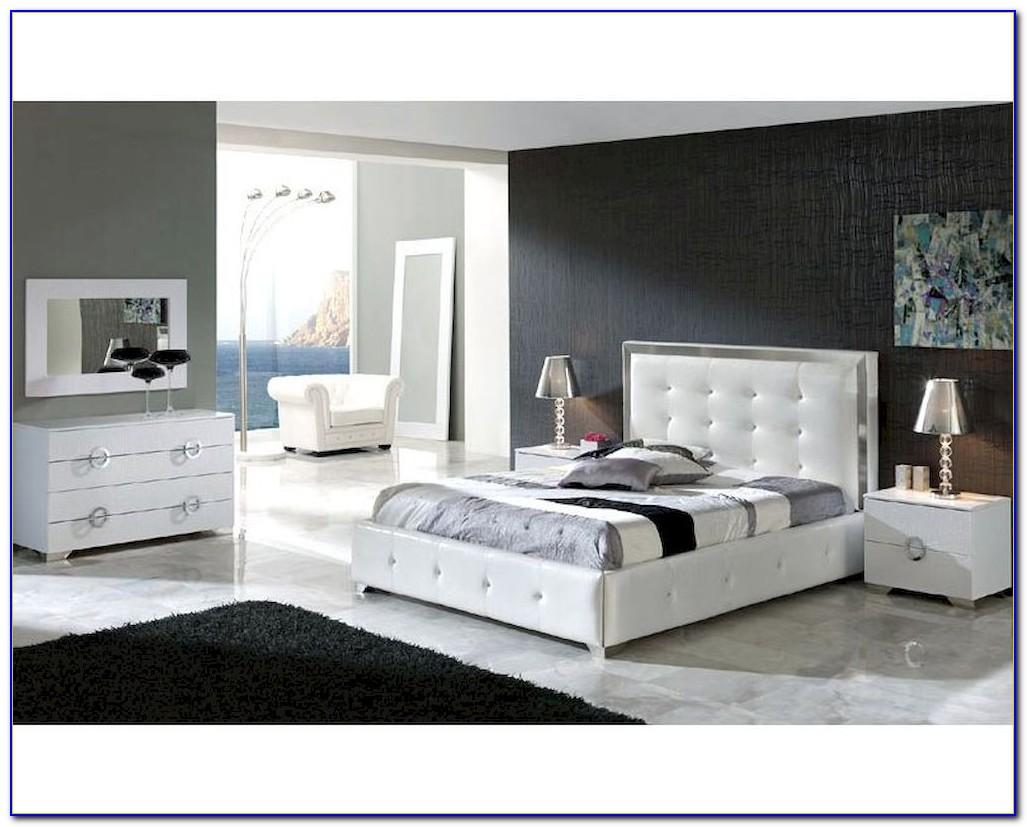 White Contemporary Bedroom Set