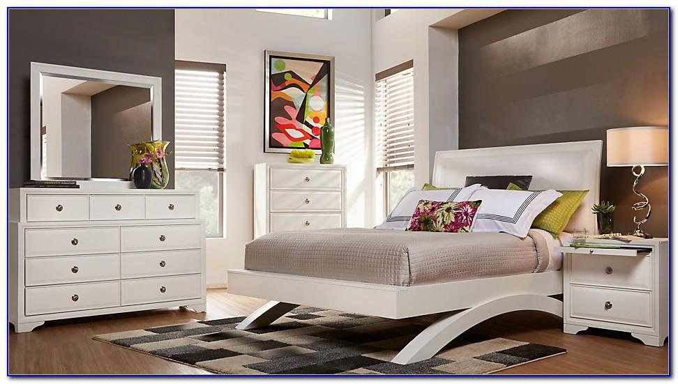 White Queen Bedroom Set With Desk