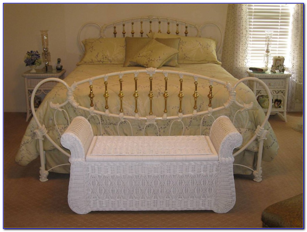 White Wicker Bedroom Chair