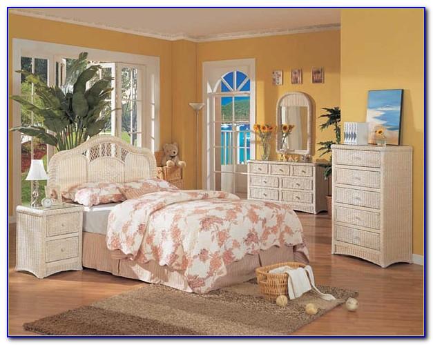 White Wicker Furniture Bedroom Set