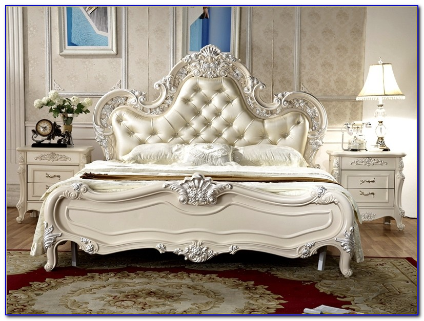 Antique Style Mirrored Bedroom Furniture