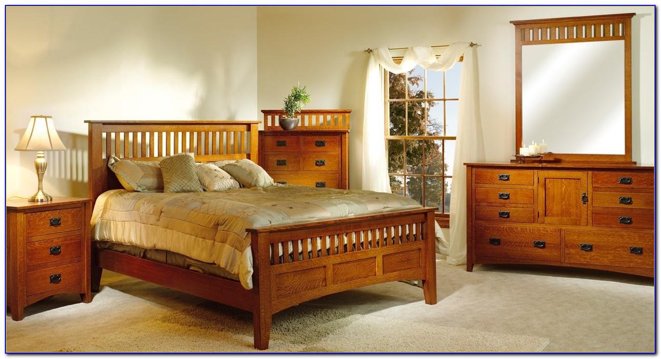 Antique Tiger Oak Bedroom Set
