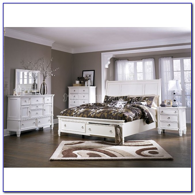 Ashley Furniture Black And White Bedroom Set
