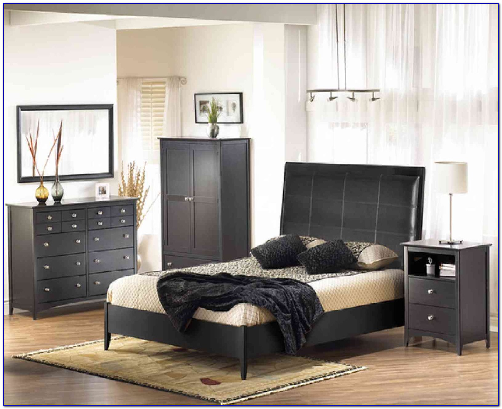 Black And Brown Gloss Bedroom Furniture