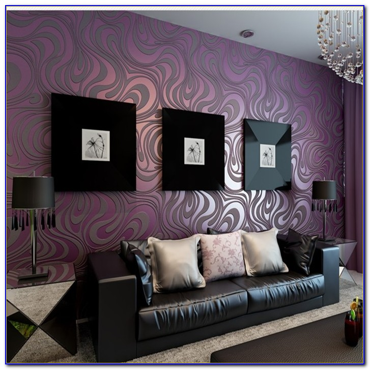 Black And Purple Wallpaper For Bedrooms