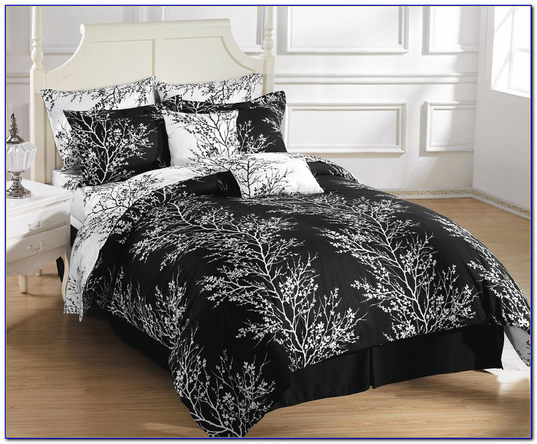 Black And White Comforter Sets Cal King