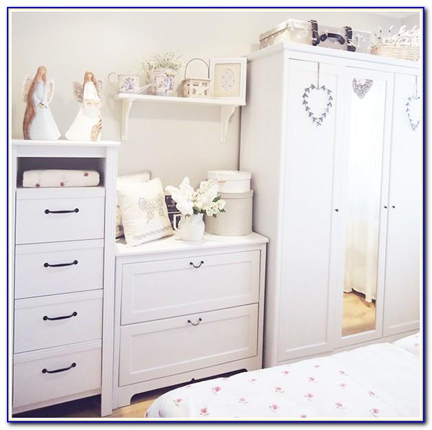 Black Shabby Chic Bedroom Furniture Set