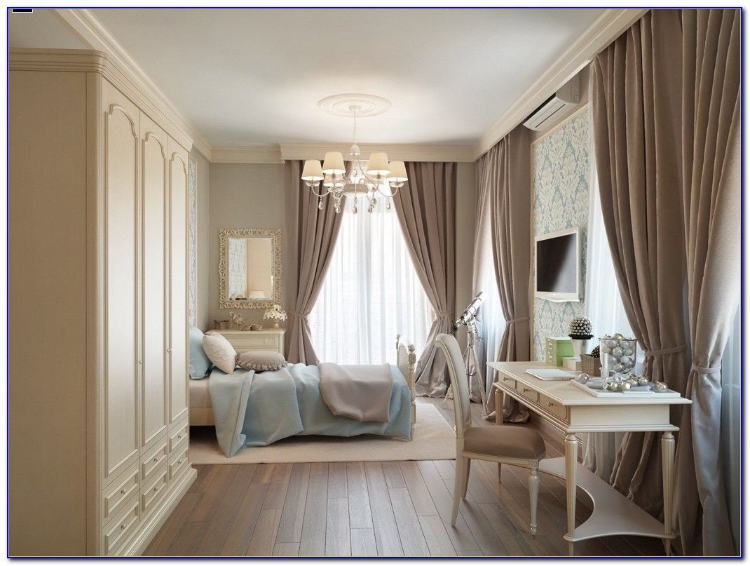 Blue And Taupe Bedroom