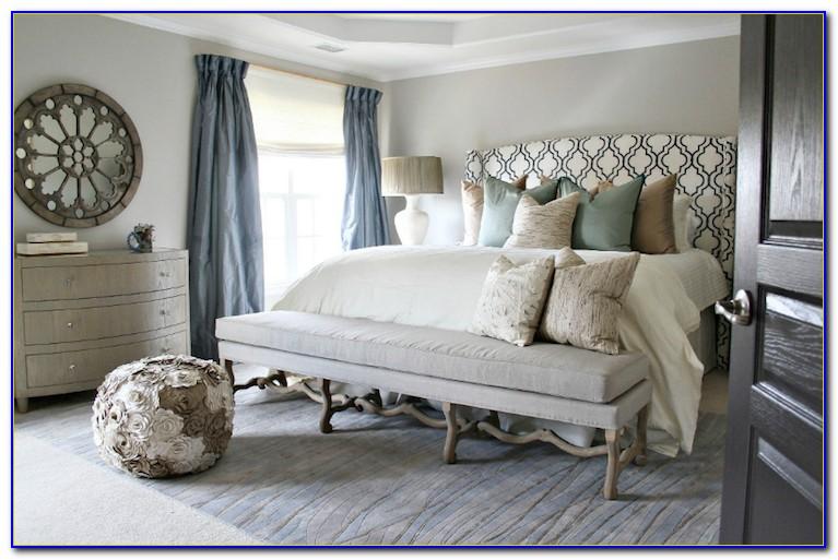 Blue Brown Taupe Bedroom