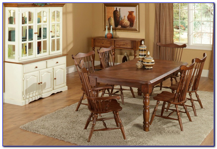 Cherry Dining Room Set With Hutch