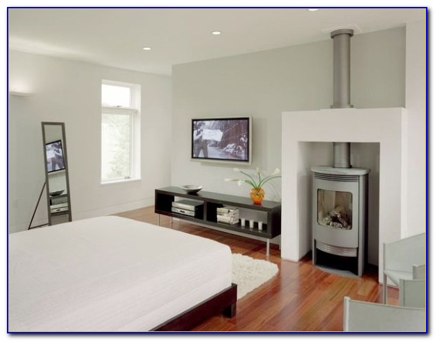 Corner Gas Fireplace In Bedroom