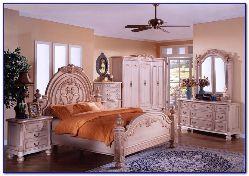 Cream Shabby Chic Bedroom Furniture Sets