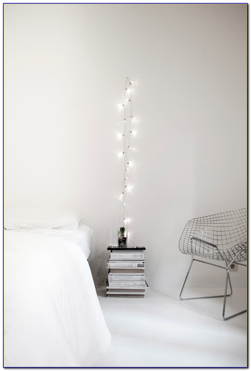Decorate Bedroom White Christmas Lights