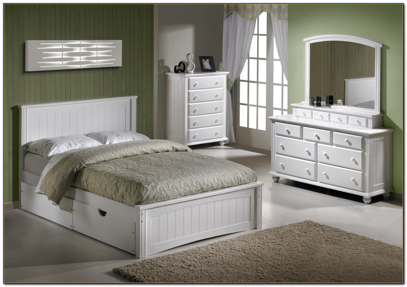 King Size Bedroom Sets In White