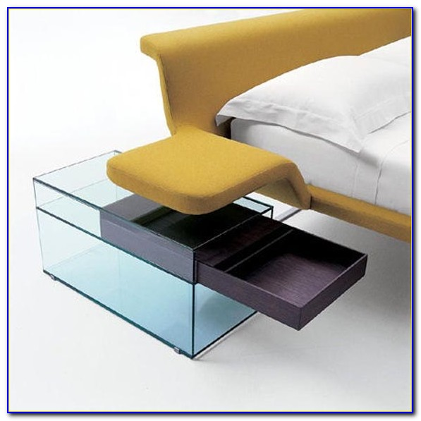 Modern Glass Bedside Tables
