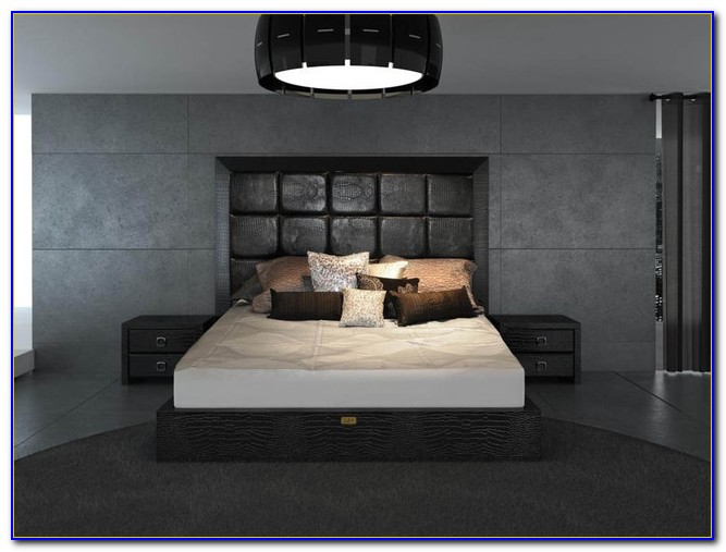 Modern Leather Bedroom Furniture Sets
