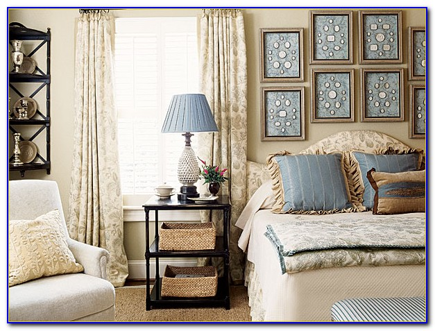Navy Blue And Taupe Bedroom