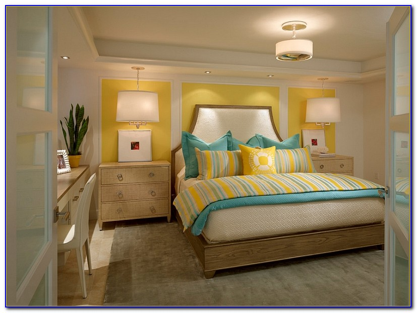 Navy Blue And Yellow Bedroom Decor