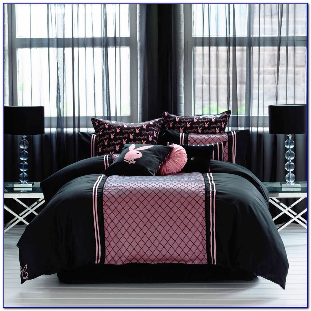 Pink And Black Zebra Print Bedroom Accessories