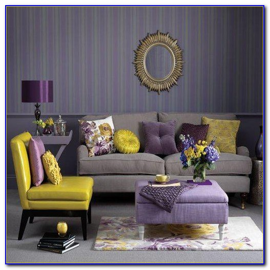 Purple And Gold Bedroom Wallpaper