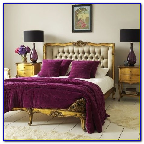Purple And Gold Bedrooms