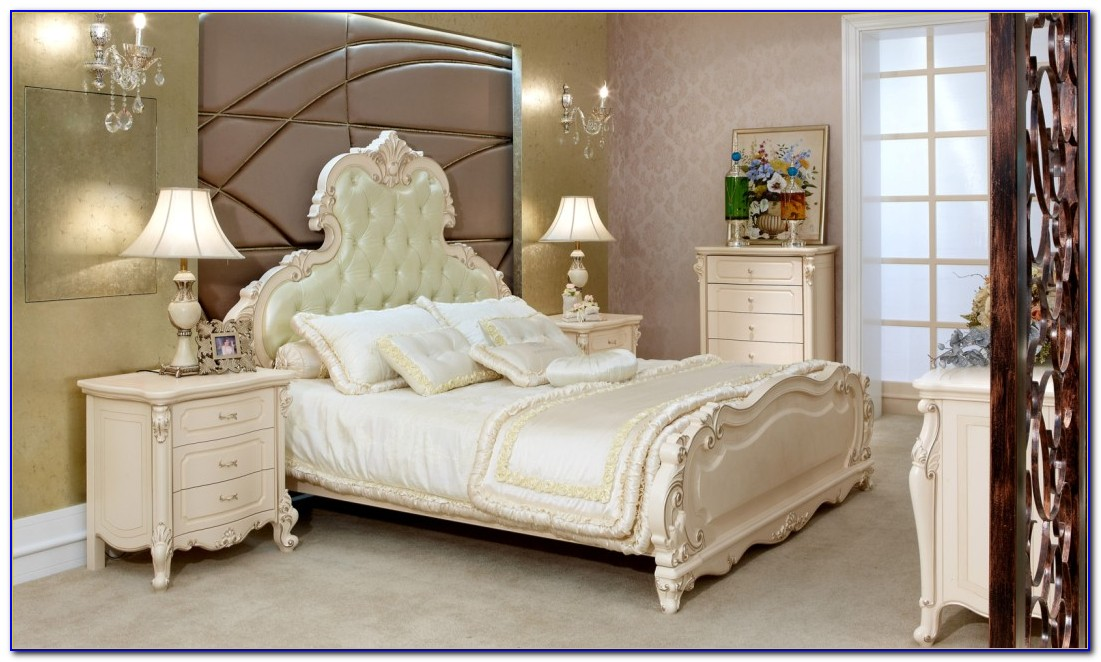 Solid Wood White Painted Bedroom Furniture