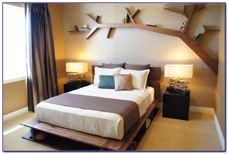 Wall Design Shelf For Bedroom
