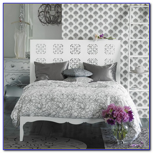 White And Silver Bedroom Decor