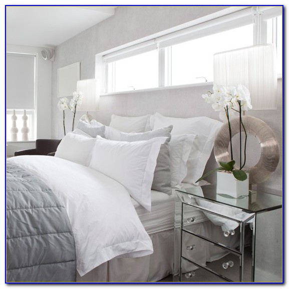 White And Silver Bedroom Set