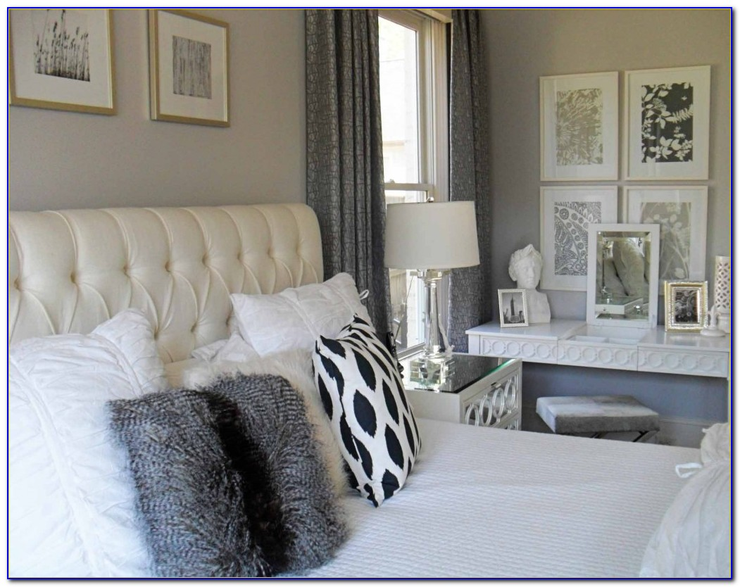 White And Silver Bedroom Wallpaper