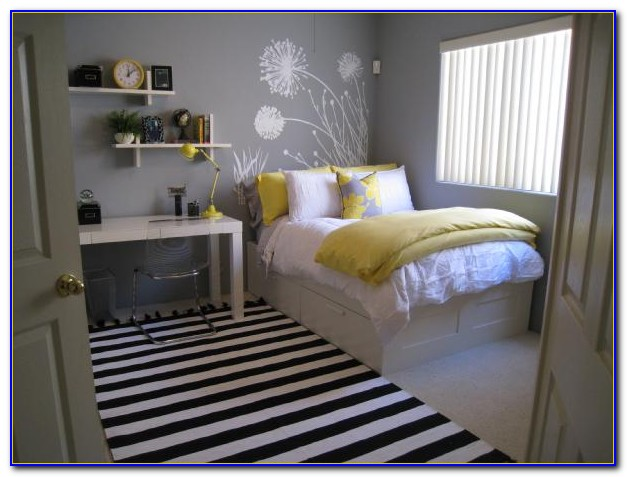 White Grey Yellow Bedroom