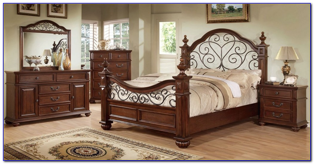 Wood And Wrought Iron Bedroom Sets
