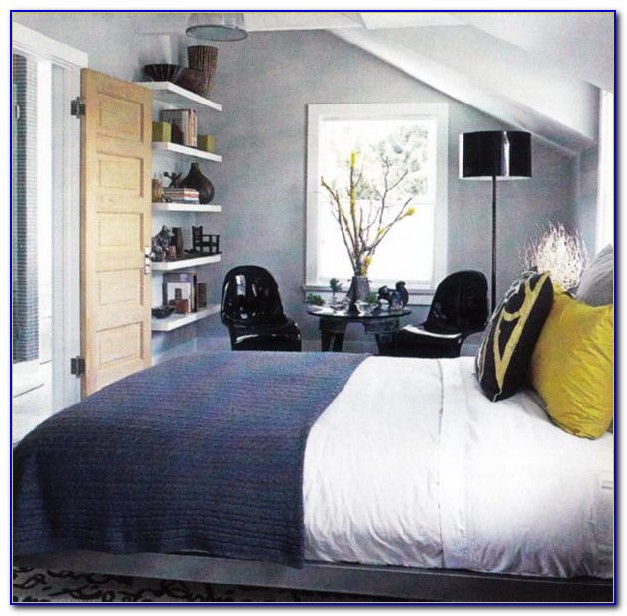 Yellow Blue And Grey Bedroom
