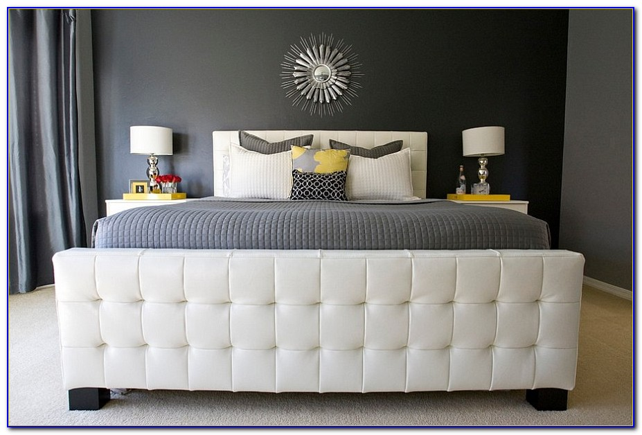 Yellow White And Grey Bedroom Decor