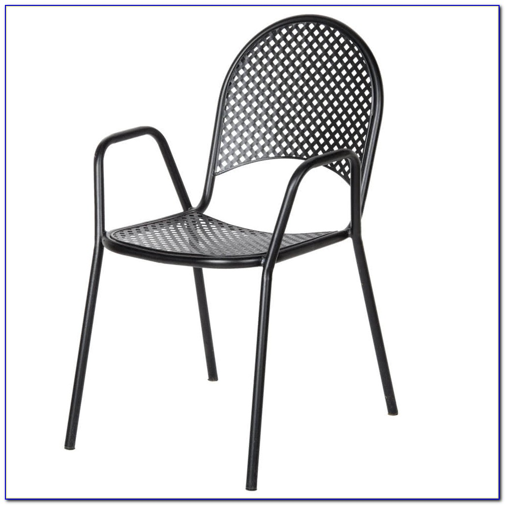 Black Metal Outdoor Chairs