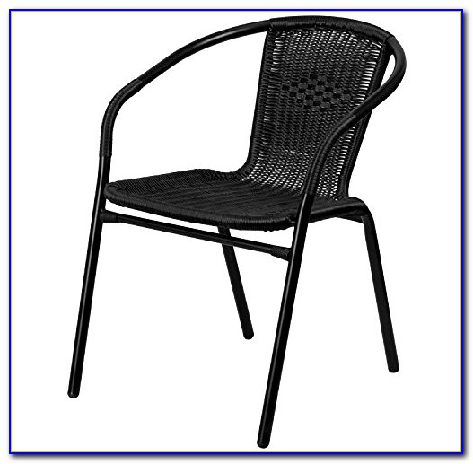Black Metal Outdoor Dining Chairs
