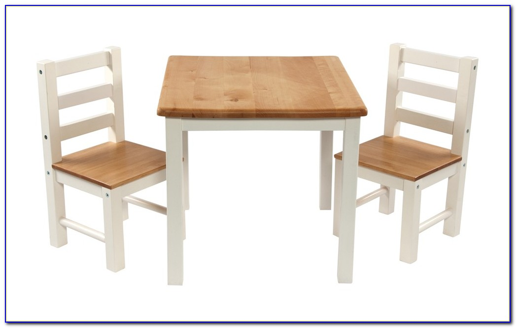 Childrens Table And Chair Set White