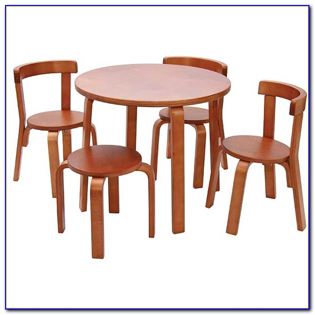 Child's Table And Chairs Wood