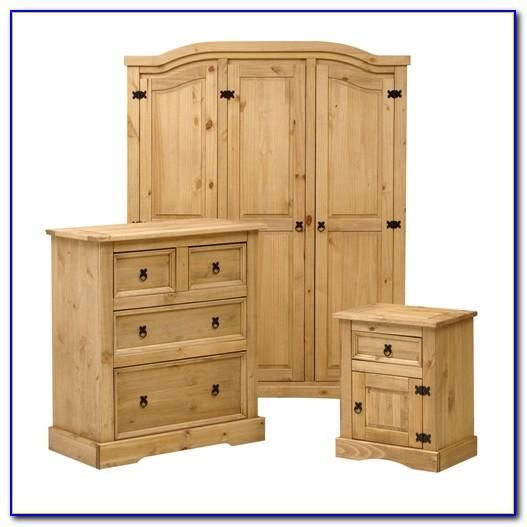 Corona Mexican Solid Pine Bedroom Furniture Set