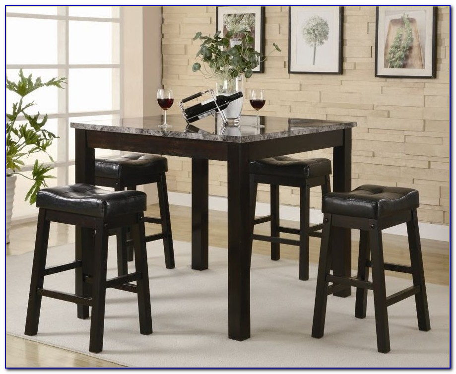 Counter Height Table And Chairs Black