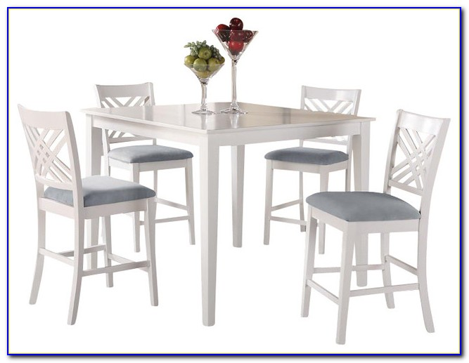 Counter Height Table And Chairs White