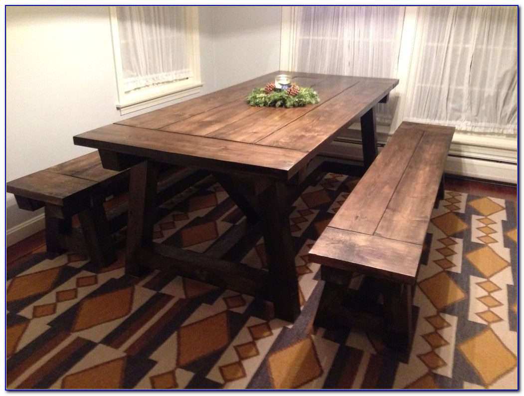 Farmhouse Table And Chairs With Bench