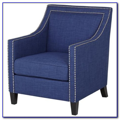 Flynn Navy Blue Accent Chair