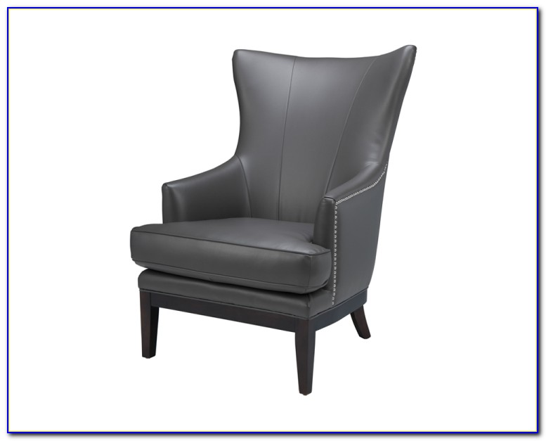 High Back Wing Chair Leather