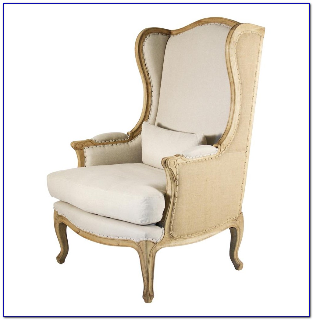 High Back Wing Chair Slipcover