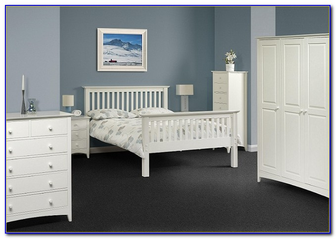 High Gloss White And Oak Bedroom Furniture