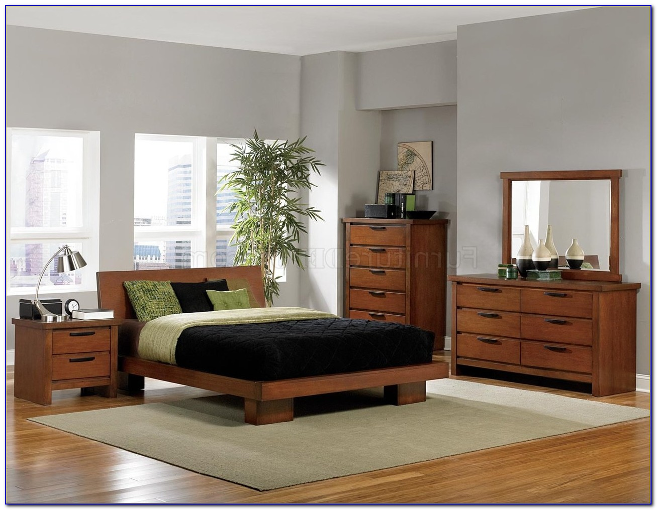 Medium Oak Bedroom Sets